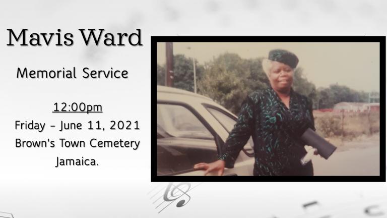 Mavis Ward memorial service